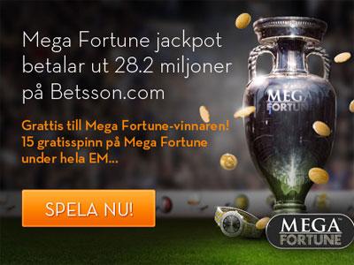 15 freespins på Mega Fortune