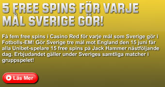 5 free spins per mål