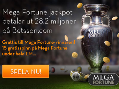 free spins Mega Fortune Betsson