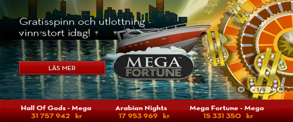 Betsson Mega Fortune freespins