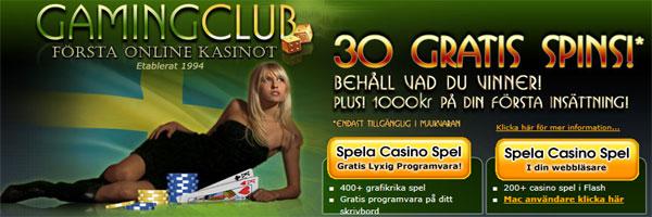 GamingClub freespins 4 juli