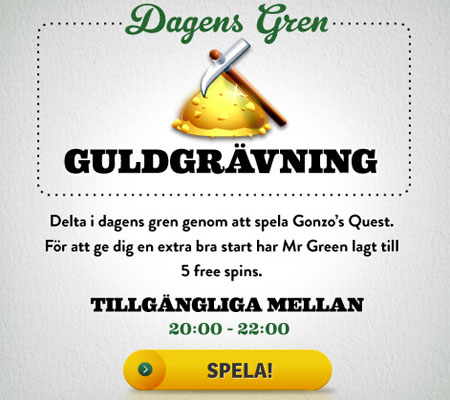 Mr Green OS free spins