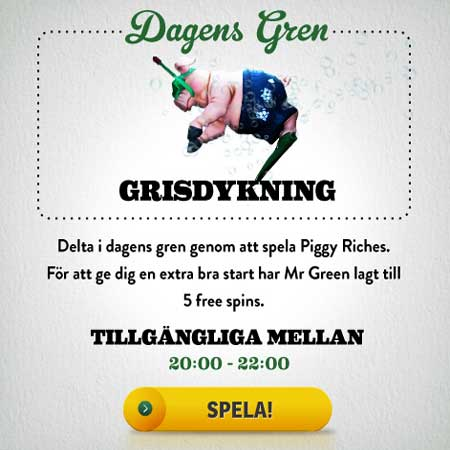 freespins Mr Green