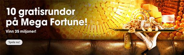 10 freespins Mega Fortune