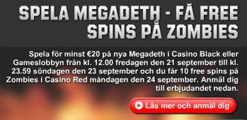 Megadeth free spins