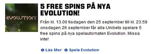 Evolution freespins