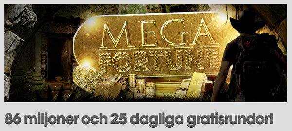 Gratisrundor på Mega Fortune