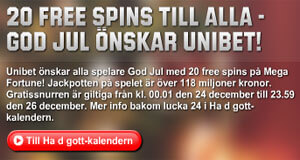 20 free spins Unibet