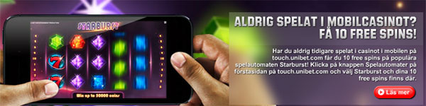 Unibet mobil freespins