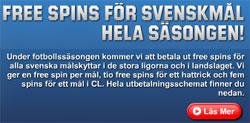 Unibet svenskmål gratissnurr