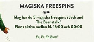 Magiska freespins Mr Green