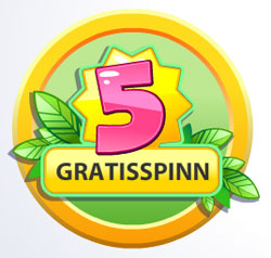5 gratisspinn Fruit Shop