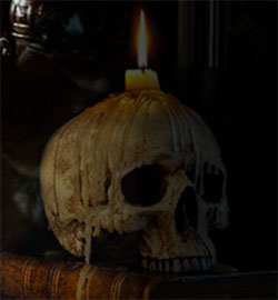 Halloween dödskalle