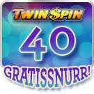 40 gratissnurr Twin Spin