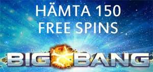 150 snurr på Big Bang hos iGame