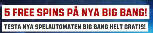 5 snurr på Big Bang hos Unibet