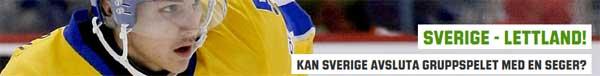 Sverige Lettland OS hockey