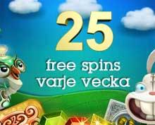 25 snurr CasinoFloor