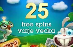 25 snurr varje vecka Casino Floor