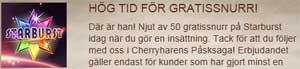 Cherry gratissnurr