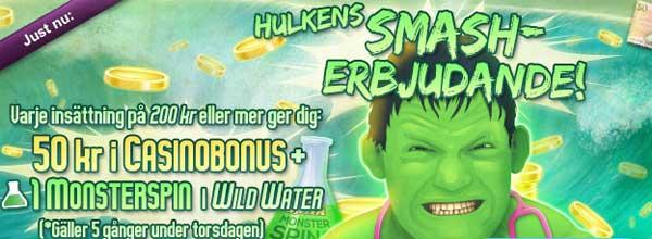 Hulkens Smashbonus hos MamaMia