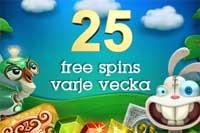 25 spins varje vecka hos CasinoFloor