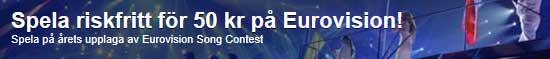 ComeOn riskfritt spel på Eurovision