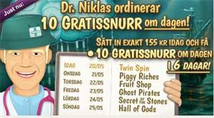 Dr Niklas gratissnurr