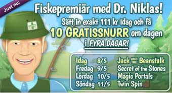 MamaMia fiskepremiär med Dr Niklas