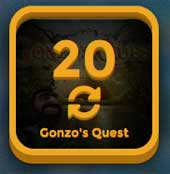 20 freespins i Gonzo's Quest