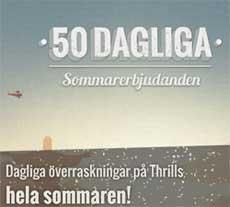 50 dagliga sommarerbjudande hos Thrills