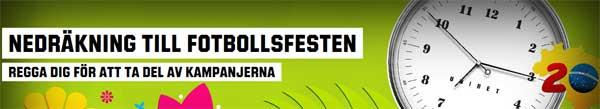 Nedräkning till fotbollsfesten hos Unibet