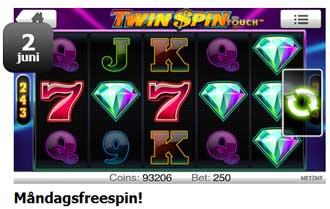 Twin Spin 2 juni hos Playhippo