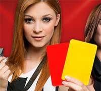 Rött och gult kort Unibet