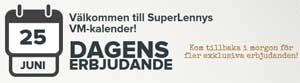 SuperLenny erbjudande 25 juni