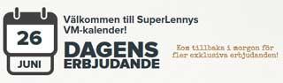 SuperLenny erbjudande 26 juni