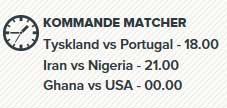 VM matcher den 16 juni 2014