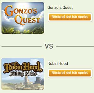 Gonzo's Quest vs Robin Hood