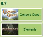 Gonzo's Quest mot Elements