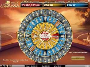 Mega Fortune Dreams jackpotthjul