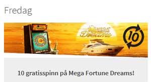 Betsson Mega Fortune Dreams kampanj