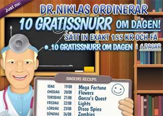 Dr Niklas ordinerar den 19 augusti