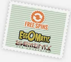Free spins EggoMatic och Elements