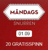 Måndagssnurren 1 september