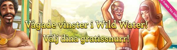 Välj dina gratissnurr Wild Water