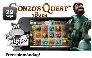 Freespins måndag Gonzo's Quest