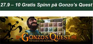 Gonzo's Quest 27 september