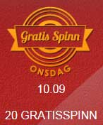 Gratis spinn onsdag 10 september