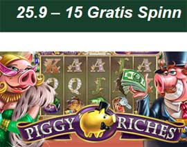 Piggy Riches 25 september