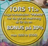 Pirates torsdag 11 september